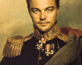 Leonardo DiCaprio Poster Military Antique Funny Large A1 Size by Fotojig