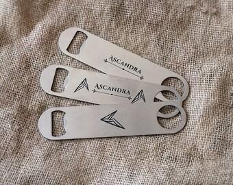 Personalized bottle opener, Custom engraved beer opener, Custom logo bottle opener, Custom gift, Groomsmen gift