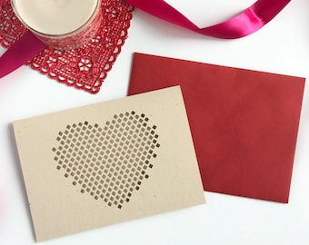 Heart Valentines card, Valentines card him, Love card for him, card for him, card for boyfriend, card for girlfriend, romantic card, love
