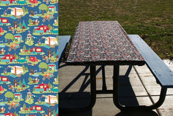 Picnic Table Cloth Elastic Table Cover Camping Tablecloth