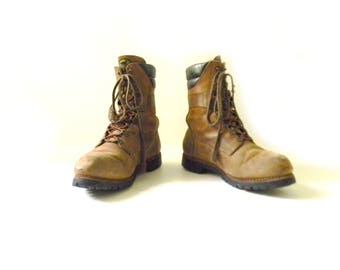 Men's RED WING Irish Setter Leather Work Boot / Size 10.5