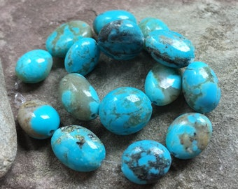 Turquoise beads, Kingman Turquoise, stabilized Turquoise , natural stone, American turquoise