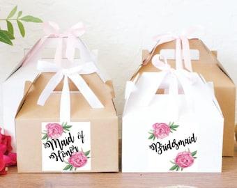 Bridesmaid gift box / Will you be my bridesmaid box / Maid of Honor gift box / Will you be my maid of honor / GBW-36