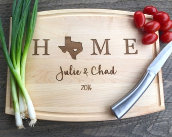 Cutting board, Housewarming gift, Wedding gift, Realtor Closing gift, New home, home state