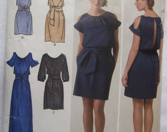 Simplicity 2406 Cynthia Rowley designer dress with length and sleeve variations plus size 14-22 bust 36-44