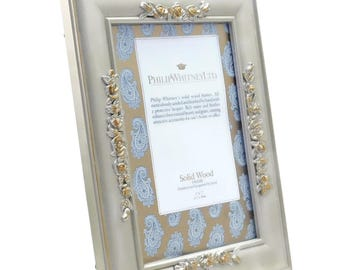 """Philip Whitney Ltd. Solid Wood Picture Frame Hand Finished & Lacquered 5"""" x 7"""""""