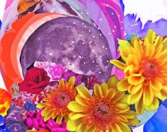 Flower Magic- 8x10 Fine Art Giclee Print, Abstract Artwork, Contemporary Art Print