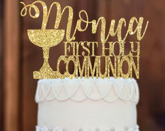 Cake Topper - First Communion Cake Topper - first communion - First Communion Centerpieces - Religious Centerpieces - Communion Cake Topper