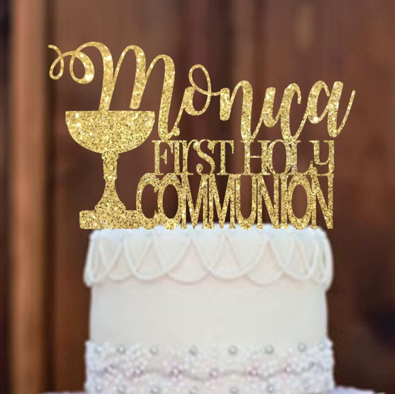 Religious Flat Acrylic: Cake Topper First Communion Cake Topper First Communion
