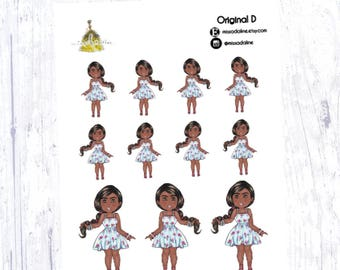Original Little Miss Adaline Sticker Set