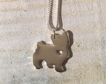 Yorkshire Terrier Silver Dog Necklace, Jewlery
