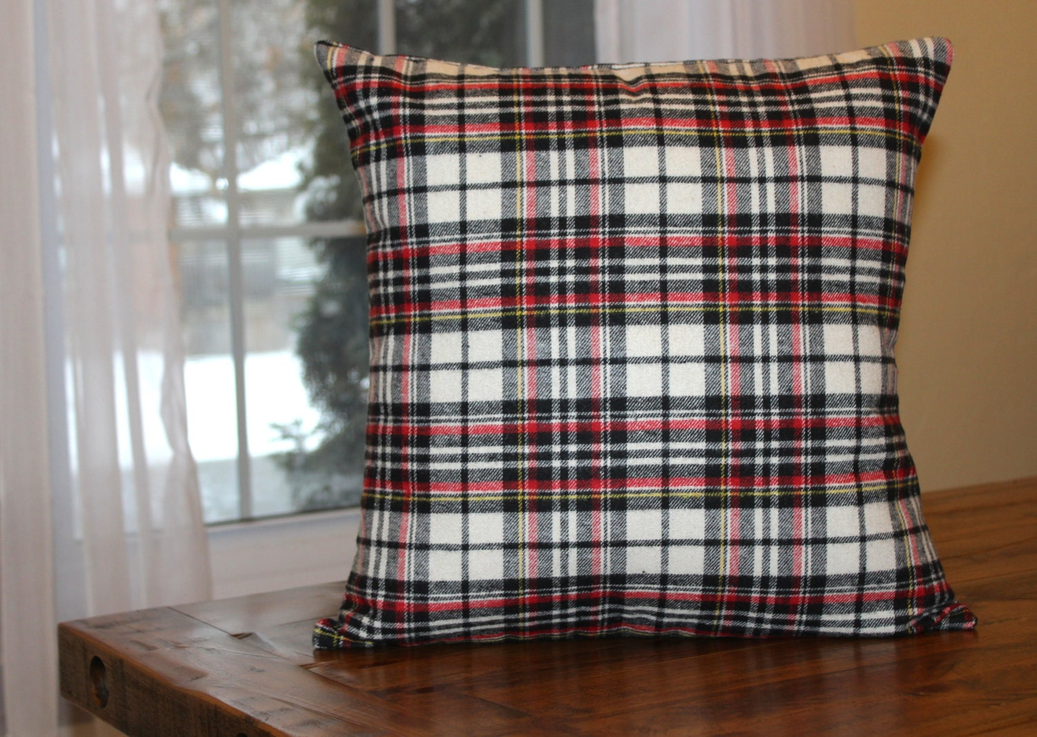 Red Plaid Throw Pillow Cover : Plaid Pillow Cover Red/Black Plaid Throw Pillow Pillow