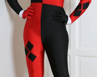 Classic Harley Quinn Cosplay Costume Suit