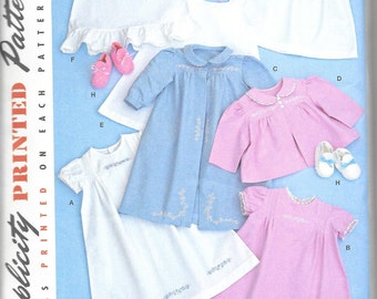 Simplicity 2629 - Babies' Layette and Bonnet - Reproduction of 1948 pattern -  sizes from XXS - L - New/ uncut