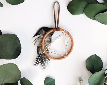 Modern Dream Catcher, Friend Gifts Under 20, Small Dream Catcher Wall Hanging, Bohemian Home Decor, Mini Dreamcatcher, Boho Dorm Room Decor