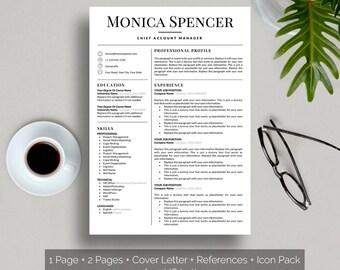 TEACHER RESUME Template Professional Minimalist Design CV - Elegant resume teacher resume template word
