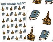 Christian Church Planner Stickers