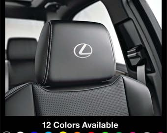x6 LEXUS L - Sport Headrest Car Seat Decals Stickers Graphics Logo Badge - Is Es Gs F Ls Nx Rx Gx Lx Rc Ct for All Models