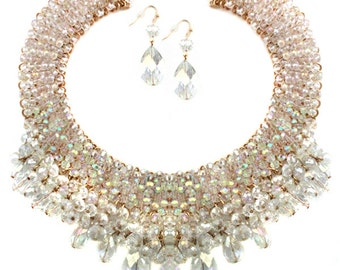 AB Clear Crystal Statement Necklace