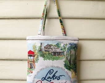 Lakes and Wilderness Linen Tote Bag
