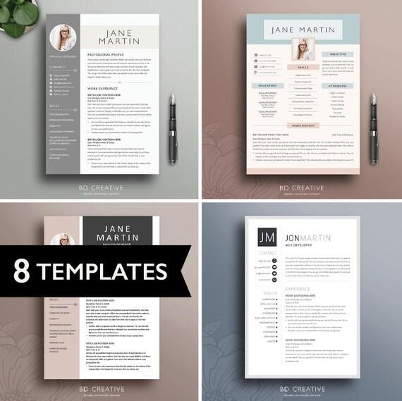 Resume Template Bundle 8 Pack Professional Modern
