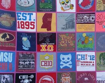 T-shirt Quilt, memory quilt,