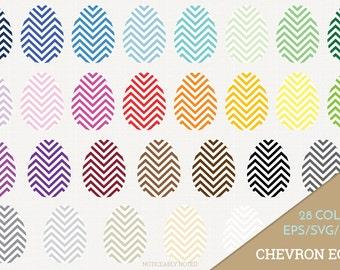 Easter Eggs Vector, Chevron Eggs Clipart, Patterned Egg SVG, Spring Printable, Chevron Easter Egg Print and Cut (Design 11620)