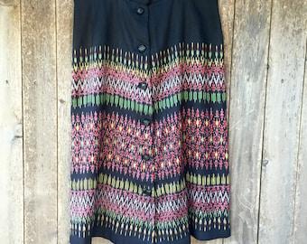 VINTAGE 90's IKAT Print Skirt