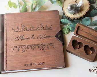 Wedding Guest Book Wood Guest Book Wedding Guestbook Custom Guest Book Wedding Album Rustic Guestbook Wedding Wooden Guest Book Custom