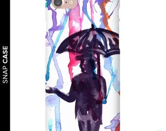 Watercolor Rain Phone Case, Watercolor Phone Case, iPhone 7 Watercolor Case, iPhone Watercolor Phone Case, Samsung Phone Case, Samsung Case