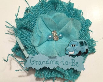 Baby Shower Corsage, Bus Grandma-to-Be Corsage, School Bus Grandma-to-Be Corsage, Bus Grandma-to-Be Pin, Grandma School Bus Baby Shower Pin