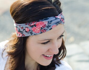 Turban Headband - Birthday Day Gift for Her - Stretchy Headband - Fabric Headband - Turban Headwrap - Floral Headband - Twist Headband