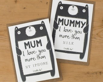 Mummy Mother's Day Card, Mum Mother's Day Card, Personalised Mother's Day Card, Free UK Delivery
