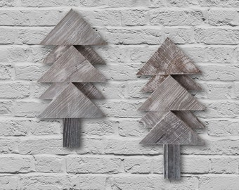 Rustic Pine Trees Wall Decor - Set of 2