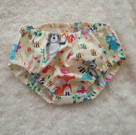 Woodland friends bloomers diaper cover baby girls toddler girls