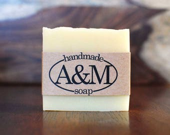 Aloe and Lemongrass Natural Soap with Aloe Juice and Lemongrass Essential Oil - Palm Oil Free, Homemade Vegan Soap Bar