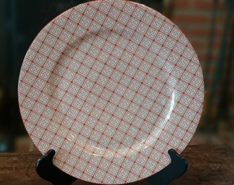 Taitu EMILIO BERGAMIN Logo China Plate/ Burnt Orange Logo Plate/ Made in Japan