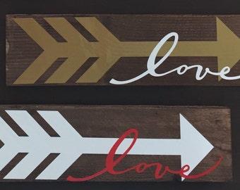 LOVE- Arrow- Sign