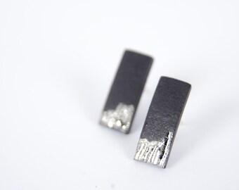 Bar earrings, ear climber earrings, ear crawler, simple earring, minimalist earrings, line earrings, bar studs, porcelain jewelry, SE015
