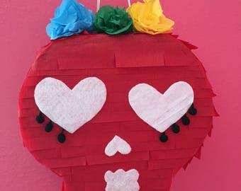 Blood Red sugar skull Pinata!