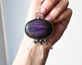 Purple Labradorite Necklace