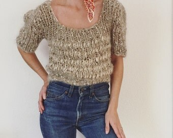 1990s Vintage Loose Knit Top
