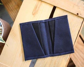 Waxed Canvas Wallet // tex-wax cotton duck canvas // minimalist wallet