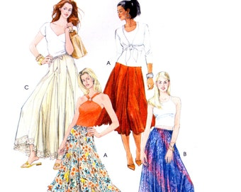 06 McCall's 5056 Boho Skirts in Three Lengths with Godets and Drawstring Waist, Uncut, Factory Folded, Sewing Pattern Plus Size 16-22