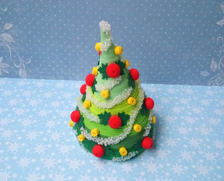 #B6151F Quilling Art Noël Sapin De Noël Ornement Fait à La Main 3D 6013 decoration de noel quilling 1500x1212 px @ aertt.com
