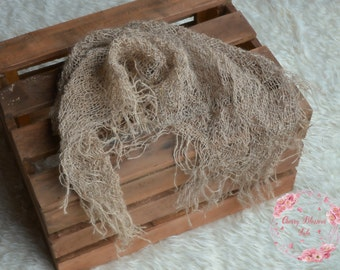 Fine burlap net layer,hessian net,rustic,jute,open weave net layer,natural basket stuffer,neutral wrap,blanket,newborn,sitter photo prop