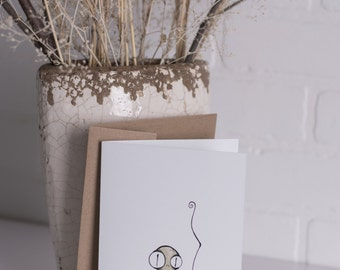 GREETING card - Mini Monster