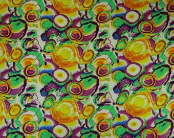 """Quilting Fabric, Circle print, Green Fabric, Home Decor, Dressmaking Fabric, Sewing Craft, 43"""" Inch Cotton Fabric By The Yard ZBC6953A"""