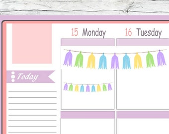 Tassels Weekend Banner Stickers To Use With Erin Condren Planner