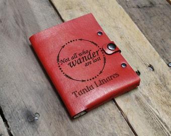 Genuine Leather Passport Wallet Sleeve, Personalized Passport Holder, Custom Passport Cover, Passport Case --PASS-RED-Wander